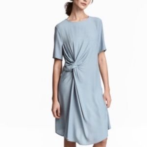 H&M Dark Gray Knotted Crepe Dress